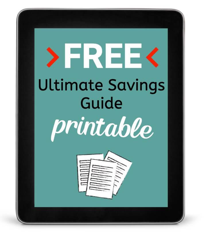 Free Ultimate Guide to Saving Money PDF