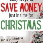 save money debt free Christmas