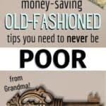 old-fashioned money-saving tips