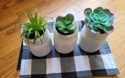Dollar Tree DIY: Mason Jar Succulent Planters