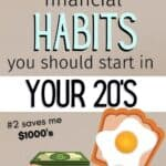 personal finance habits to start in your 20s