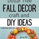 dollar tree fall decor diy crafts