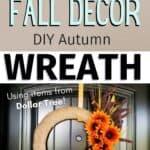 fall decor DIY autumn wreath