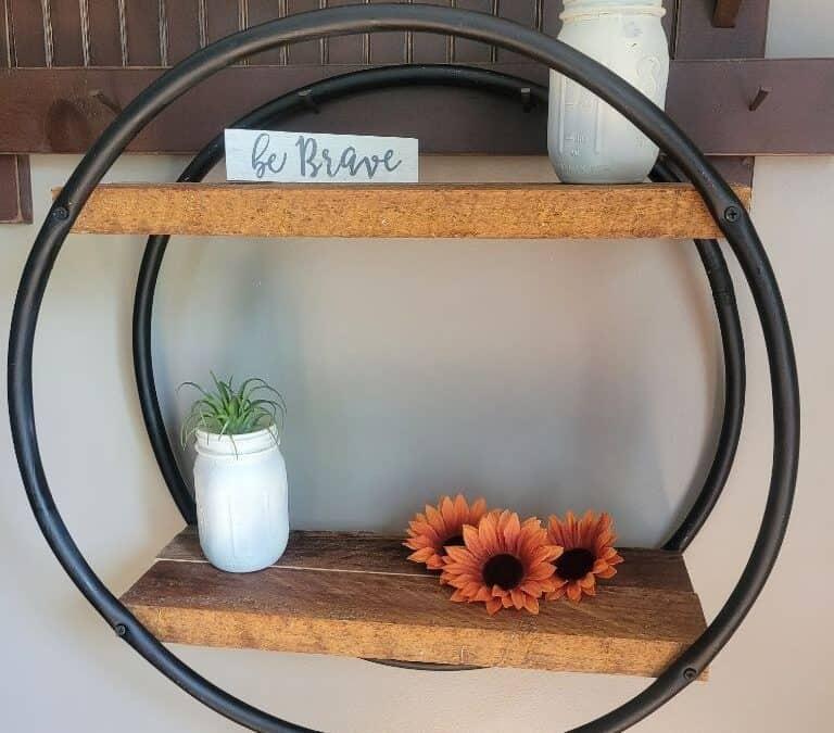 DIY Pottery Barn Dupe: Wood Decor Shelf